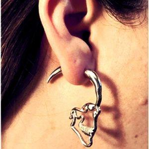 Skull Cheater Plug Earrings Pastel goth punk metal